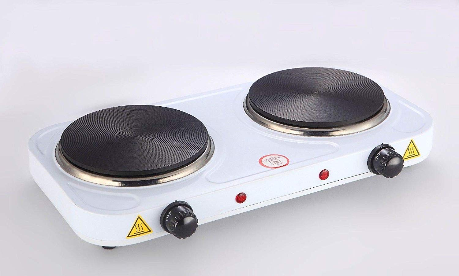 60bac357b79 Get Quotations · Cookmaster Electric Double Flat Stove 2000W Burner  Hotplate Portable Hotplates