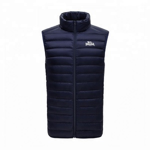 Autumn winter thin sport collar vest mens warm down feather vest
