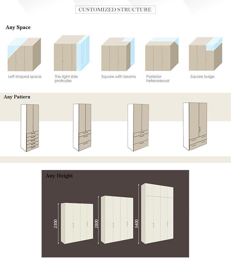 Aperto in legno mobili soggiorno armadio design almirah per scarpe e vestiti