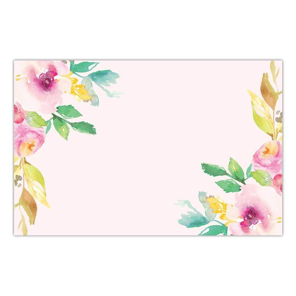 buy db party studio paper placemats floral 25 pack pink watercolor disposable place mats for