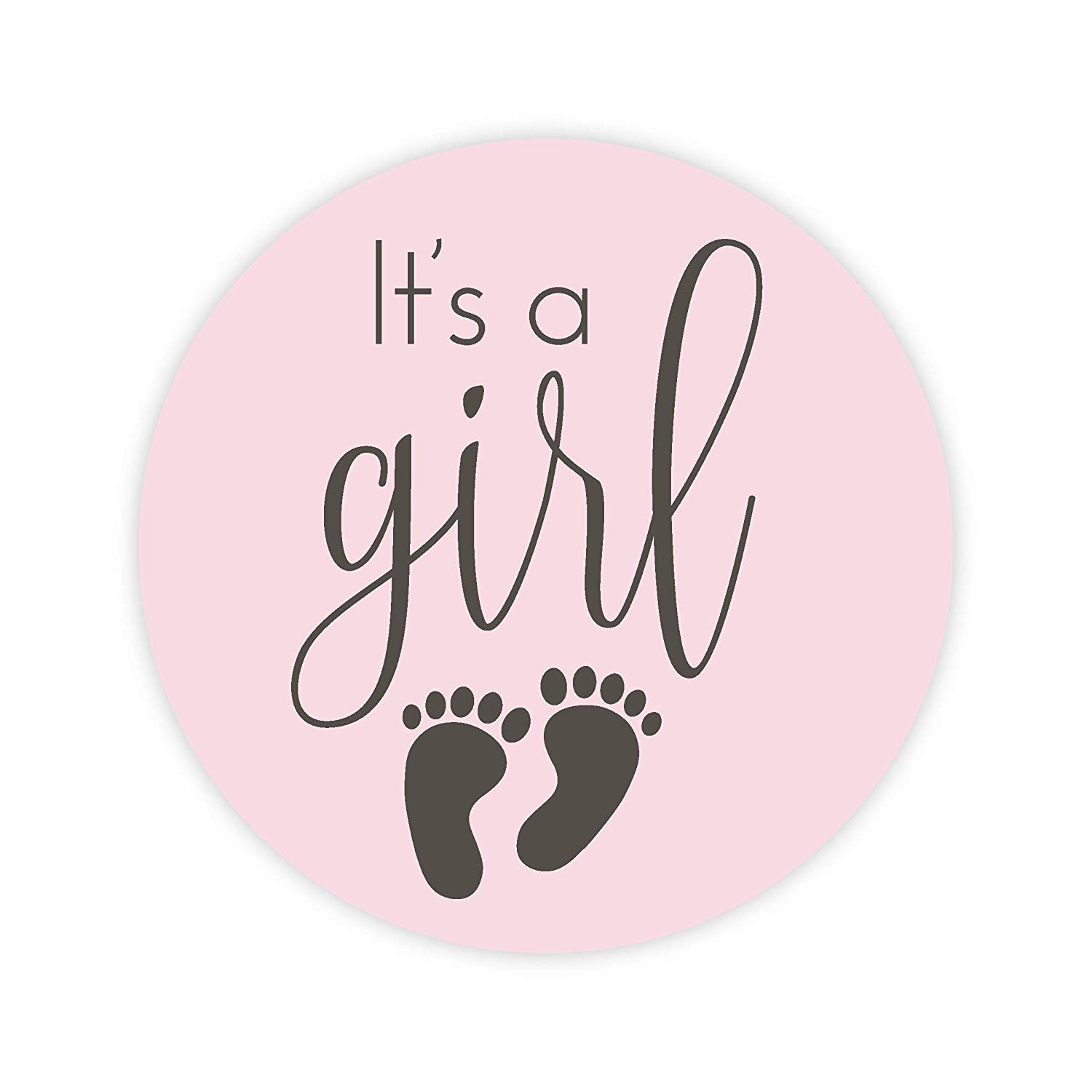 "120-1"" It's a Girl Stickers, Baby Shower Stickers (#372-G)"