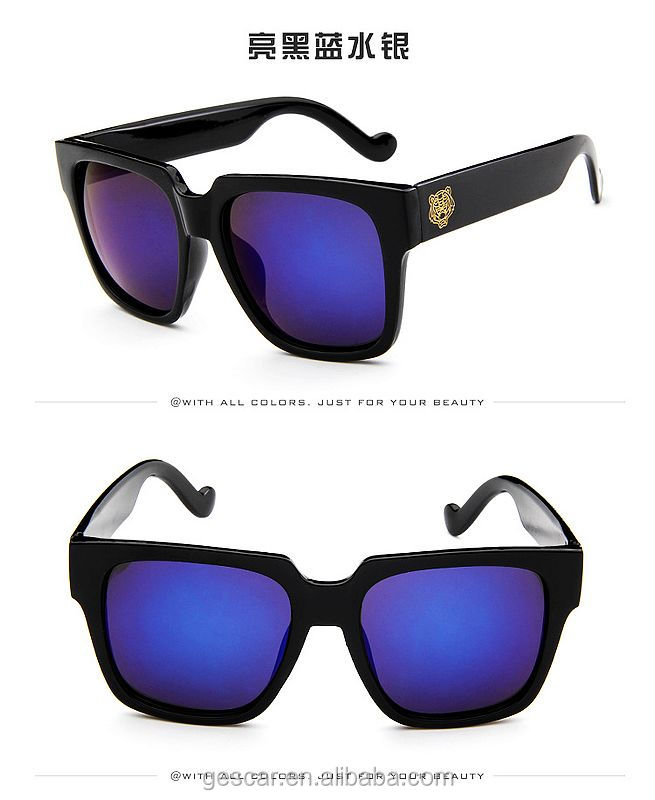 hot sale tiger style vintage mens sunglasses 2018