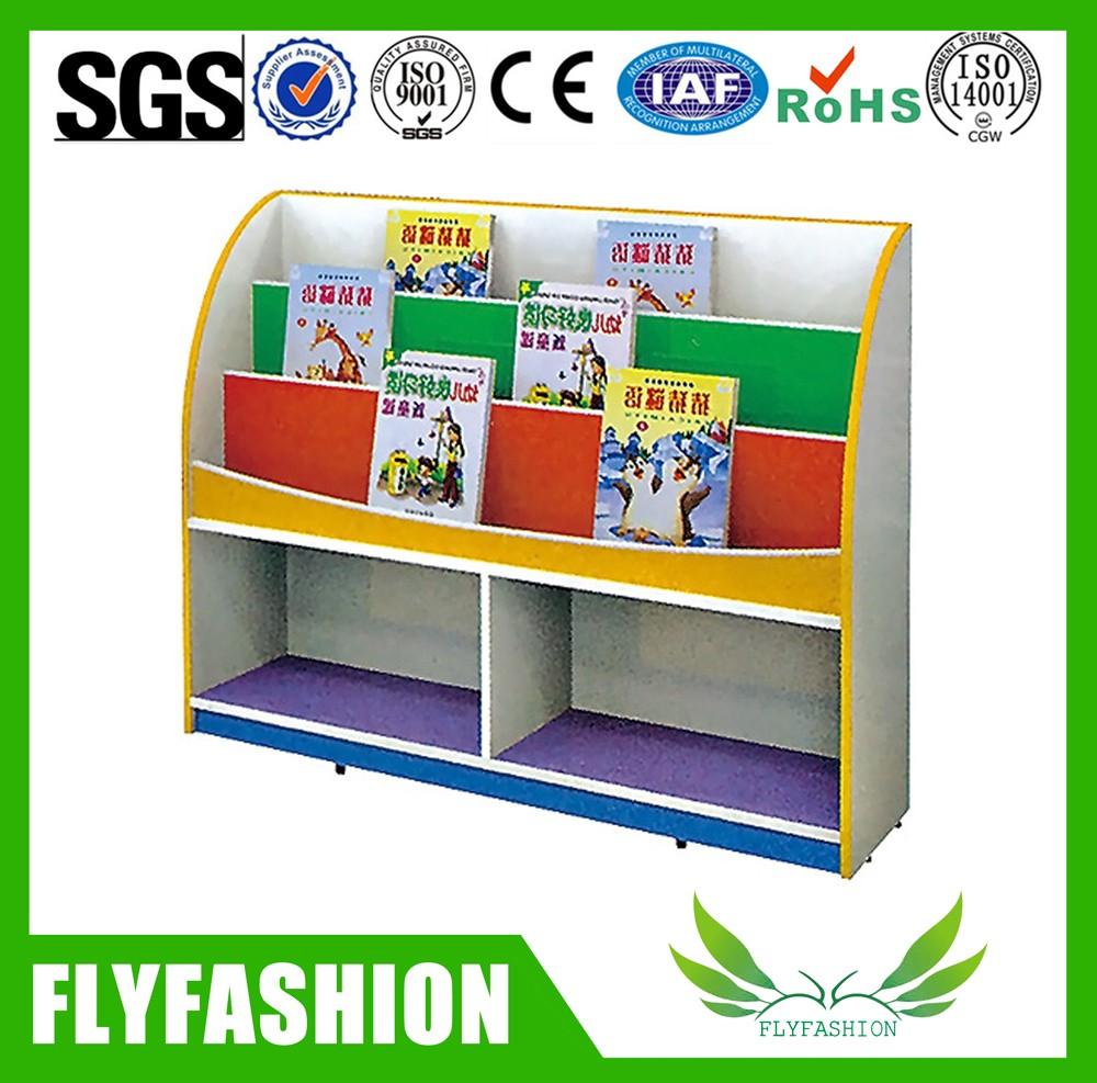 Preschool Kindergarten Bookshelf With Colorful Design