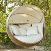 Eye-catching Exclusive wicker hanging round rattan outdoor bed outdoor swing