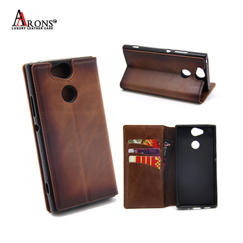 Credit card holder stick 360 degree shock proof mobile phone wallet case charging cell phone purse for sony Xperia XA2
