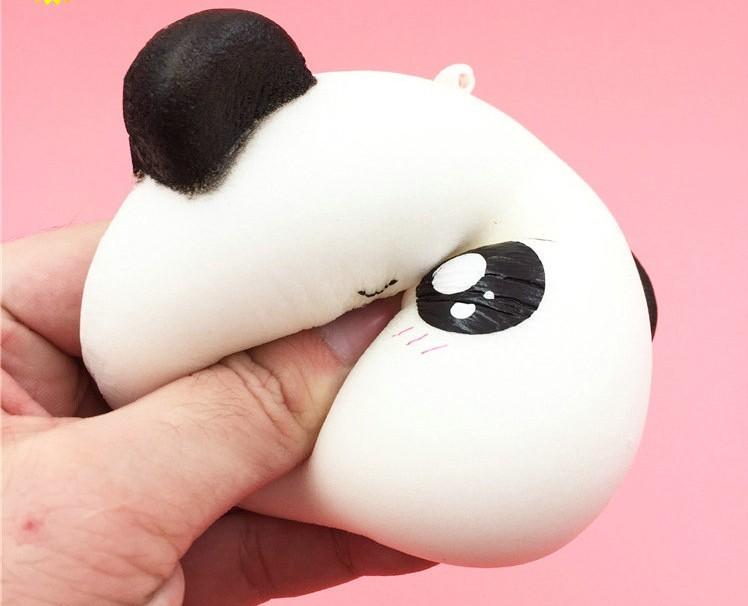 10cm Jumbo Panda Bun Squishy Charms Kawaii Cell Phone Strap Pendant Slow Rising Panda - Buy ...