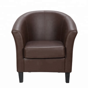Leather upholstered hotel armchair for reception room living room cafe,single sofa sillas de espera