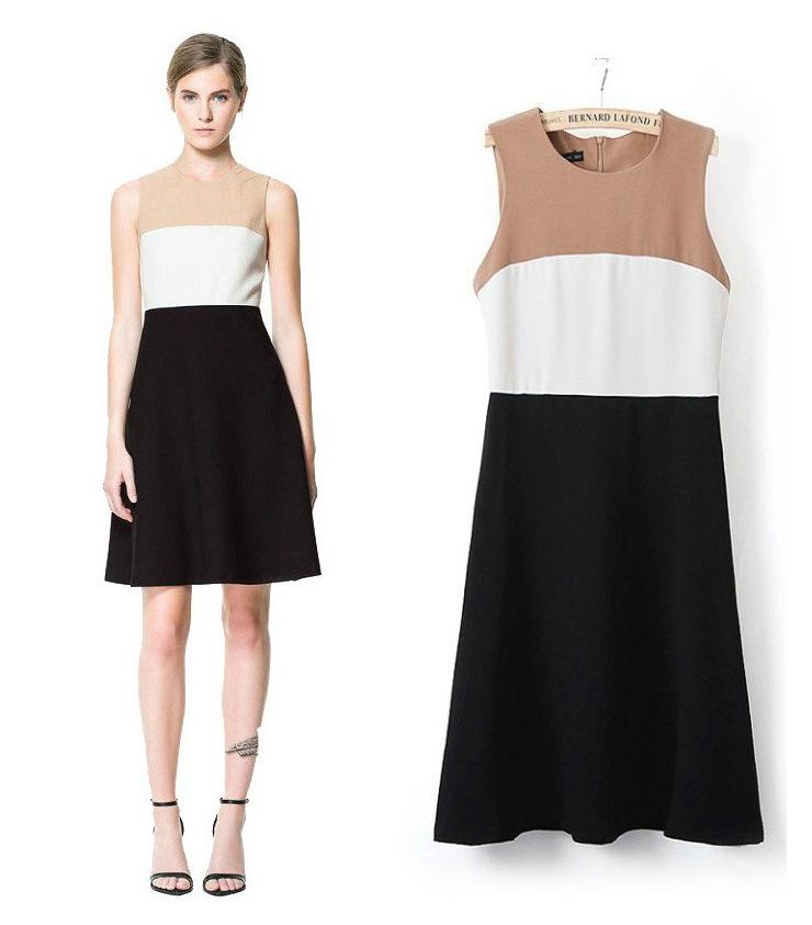 d52e49efafc9 Get Quotations · 2015 Hot Sale Women Work Dresses Fashion Summer Sleeveless  Cute A-Line Casual Cute Tank