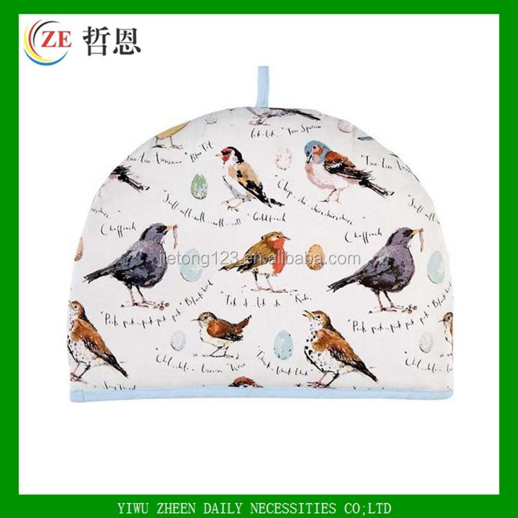 CUSTOM BIRD พิมพ์ผ้าตกแต่งกาน้ำชาครอบคลุม COZY