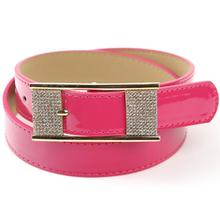 Hot!!!!! New 2015 Fashion Women Belt Hot Ladies Faux Leather Metal Buckle Straps Girls Fashion Accessories All-match Waistband
