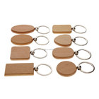 Wooden Keychain Custom Design Logo Printed Engraved Name Blank Wooden Keychain Wood Elephant Keychain