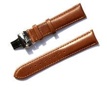 Ремешок для часов T-AMQ, из натуральной кожи, черный, темно-коричневый, 18, 19, 20, 21, 22 мм, с пряжкой, ручной работы-54(Китай)