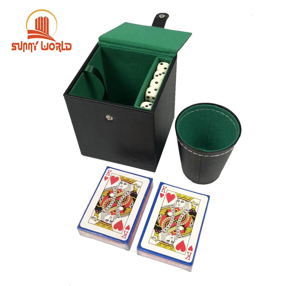 200 stks chips faux leer poker chip box speelkaarten game set