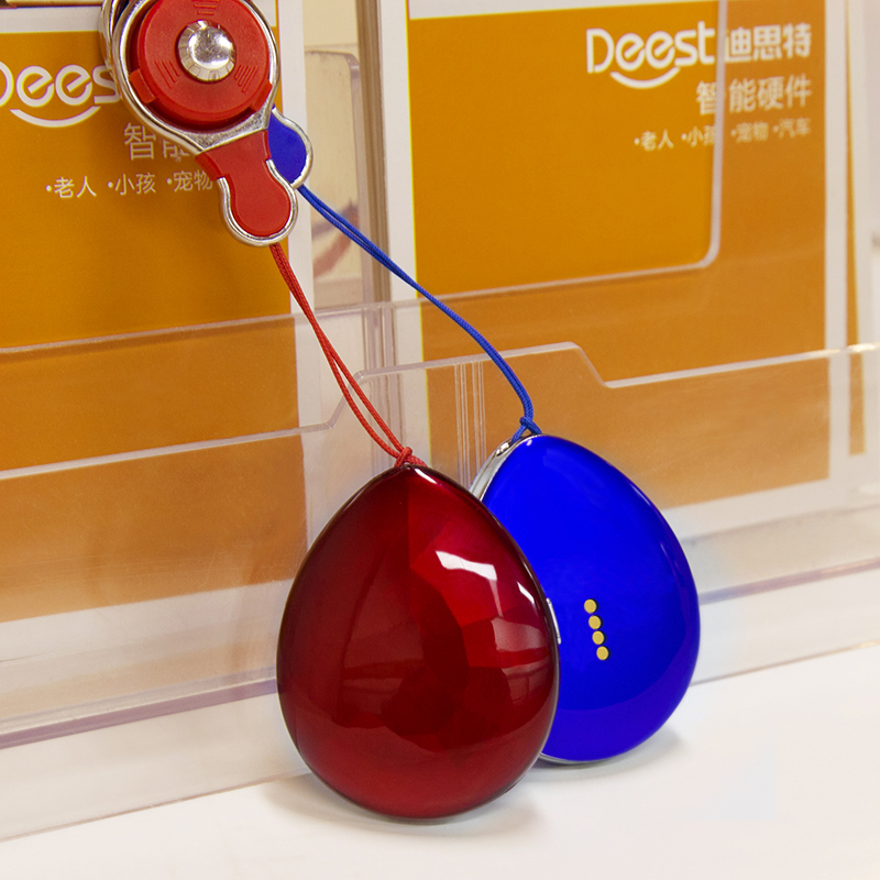 D19 new fashion child personal gps tracker bracelet red and blue color