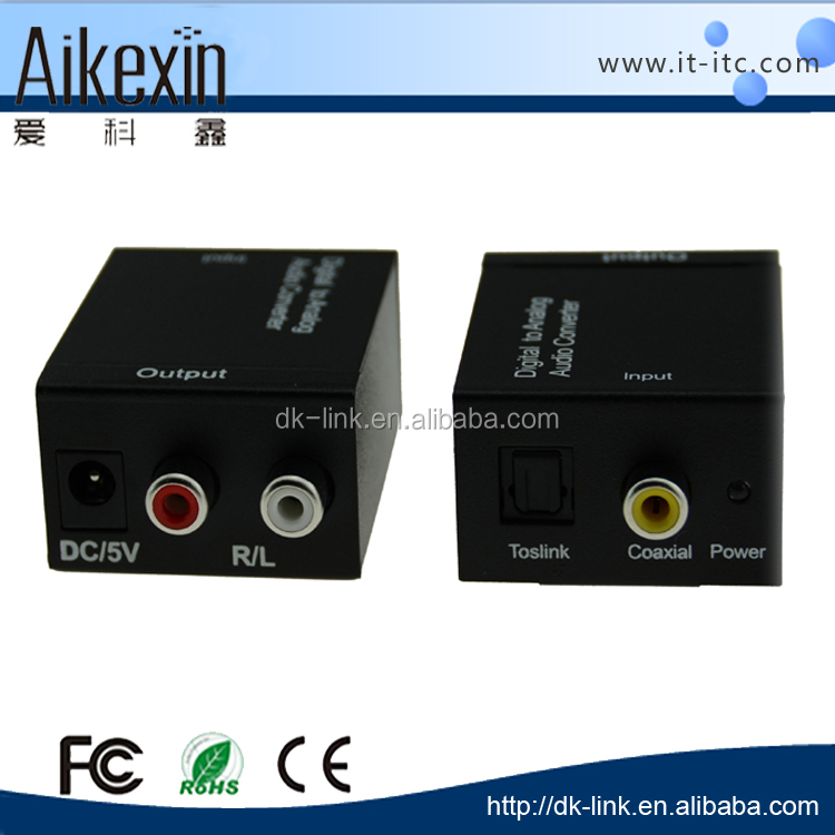 Best quality Digital to analog Audio Converter Optical/ Coaxial /USB