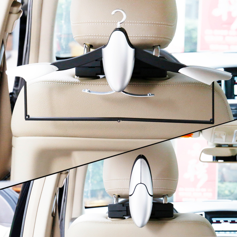 Auto Fastener & Clip Automobiles & Motorcycles Car Headrest Seat Double Extension Hook Holder Hanger Bag Vehicle Coat Organizer Car Styling Be Friendly In Use