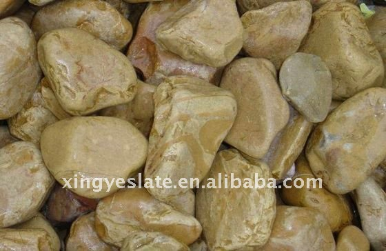 Tiger Yellow Pebbles Paving Stone