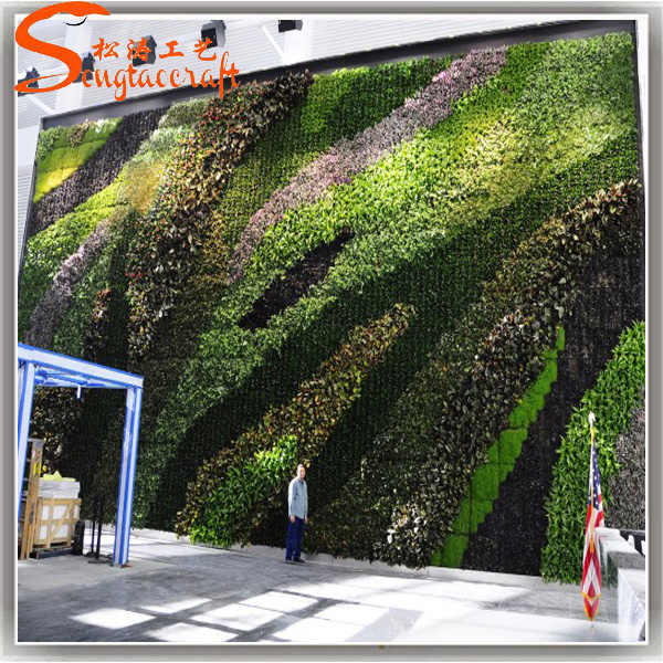 Planta artificial pl stico paredes muro verde jard n for Jardin vertical barato