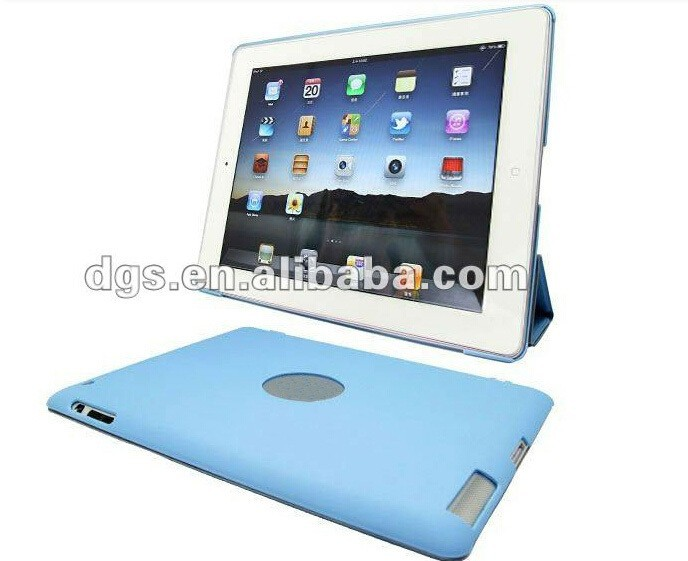 Hard Back Stand PU Leather Smart Cover Wake Sleep Case For iPad 1 For iPad 2 For iPad 3 3rd