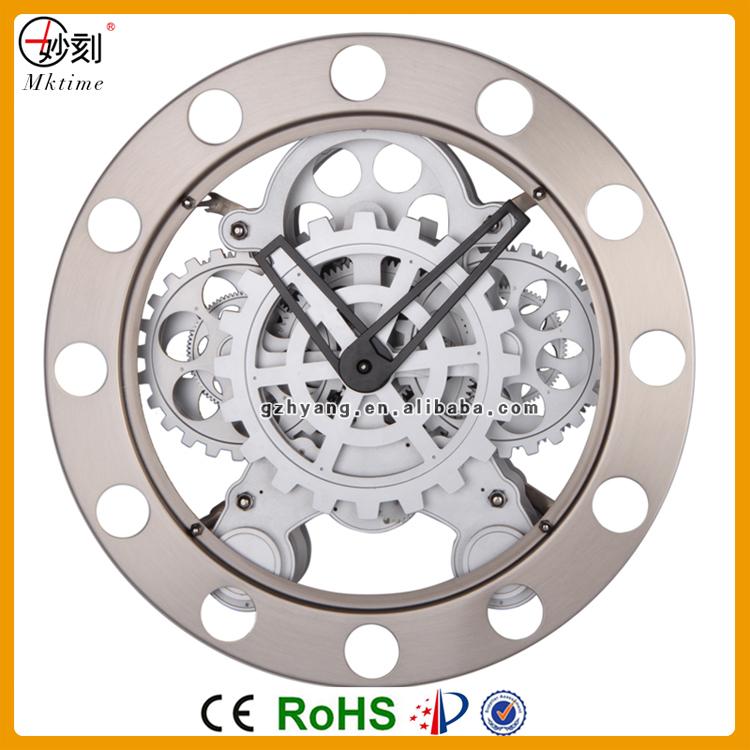 Mktime Metal Wall Gear Clock Mechanism Design Clock Modern