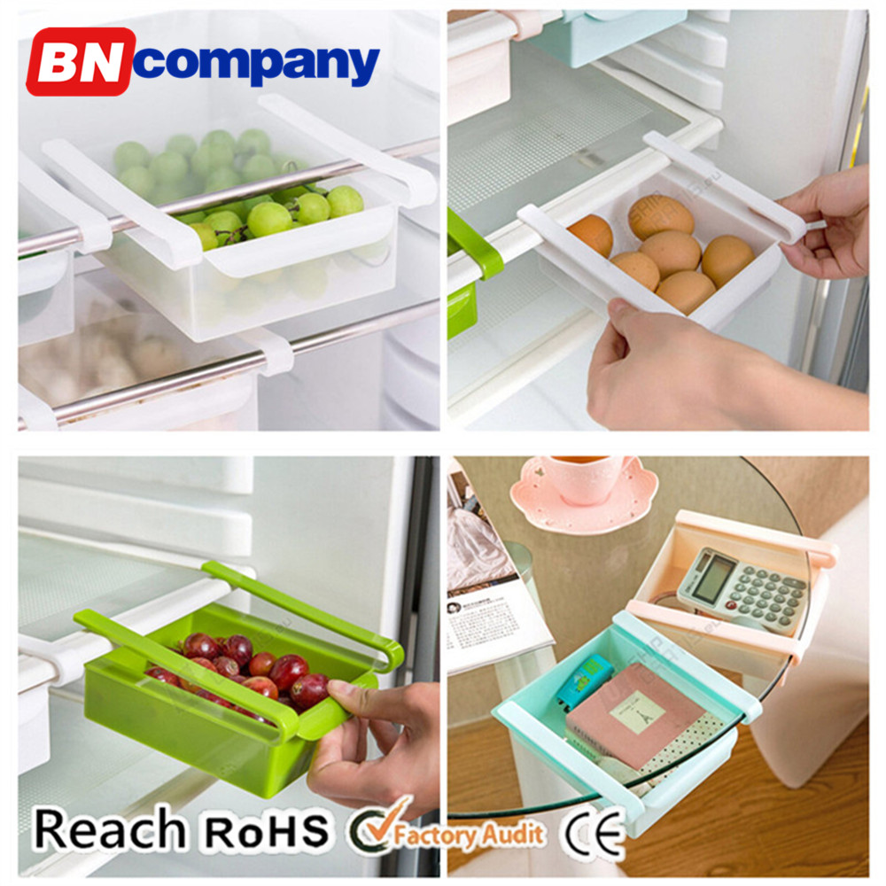 Multifunction Plastic Food Grade PP Storage Stackable Fridge Bins