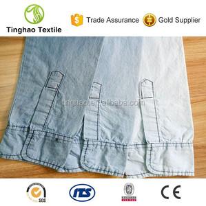 3 5OZ 100% supima cotton denim shirting fabric price