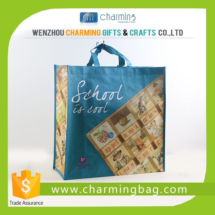 Pp woven shopping bag china supplier customized plastic laminated bag