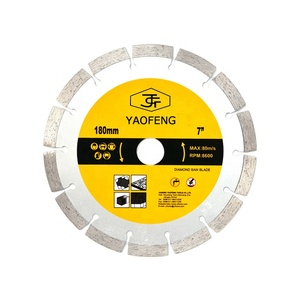"7 inch Dry or Wet Cutting General Purpose Power Saw Segmented Diamond Blades for Concrete Stone Brick Masonry (7"")"