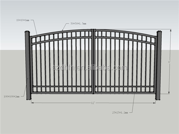 Gate Grill Design/wrought Iron Gate/iron Pipe Gate Design Factory ...