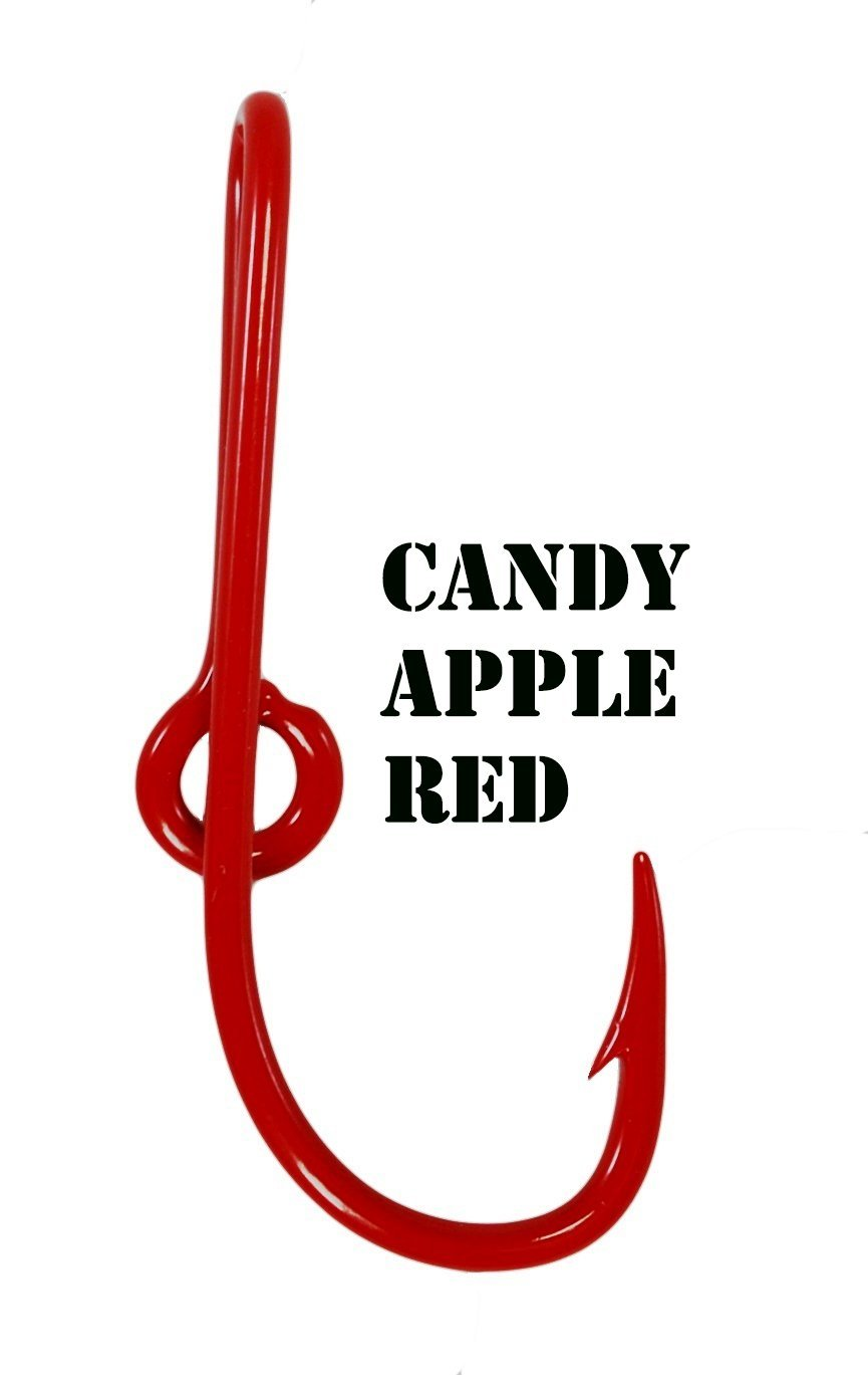 Eagle Claw Candy Apple Red Hat Hook Fish hook for Hat Candy Apple Red Fish Hook Money/Tie Clasp