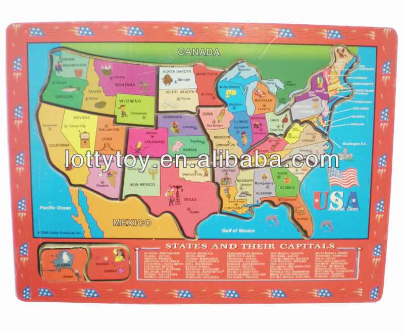 Children United States Wooden Map Puzzle - Buy Wooden Map Puzzle,United  States Wooden Map Puzzle,Children Wooden Map Puzzle Product on Alibaba.com