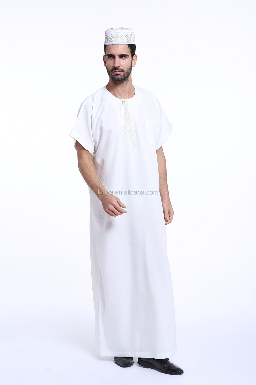 Simple design men jubah islamic clothing men's abaya