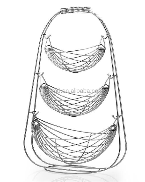nouveau design chrome fil 3 niveaux corbeille de fruits. Black Bedroom Furniture Sets. Home Design Ideas