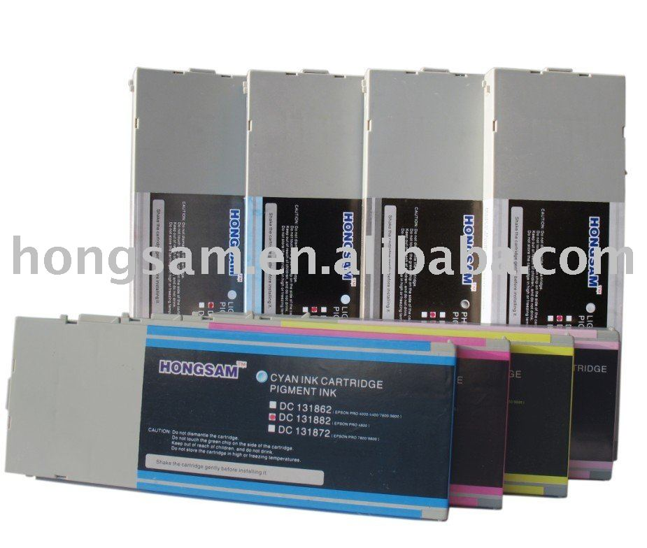 Ink system/inkjet Cartridges use for Epson 7800/9800, 4800, 7600/9600/4000
