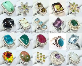 bf6a6ce64 Wholesale 925 Sterling Silver Gemstone Rings - Buy Adjustable ...