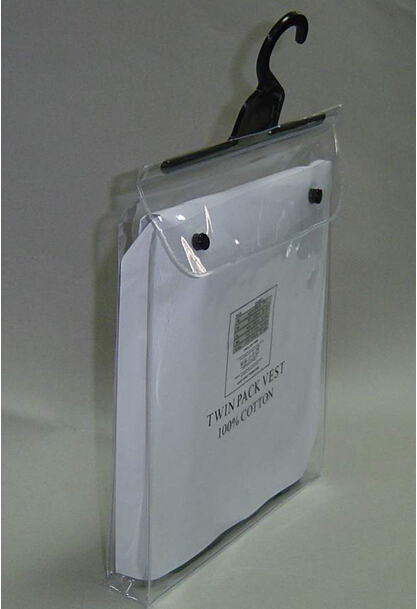 Frosted PVC custom apparel clothing garment packaging bag