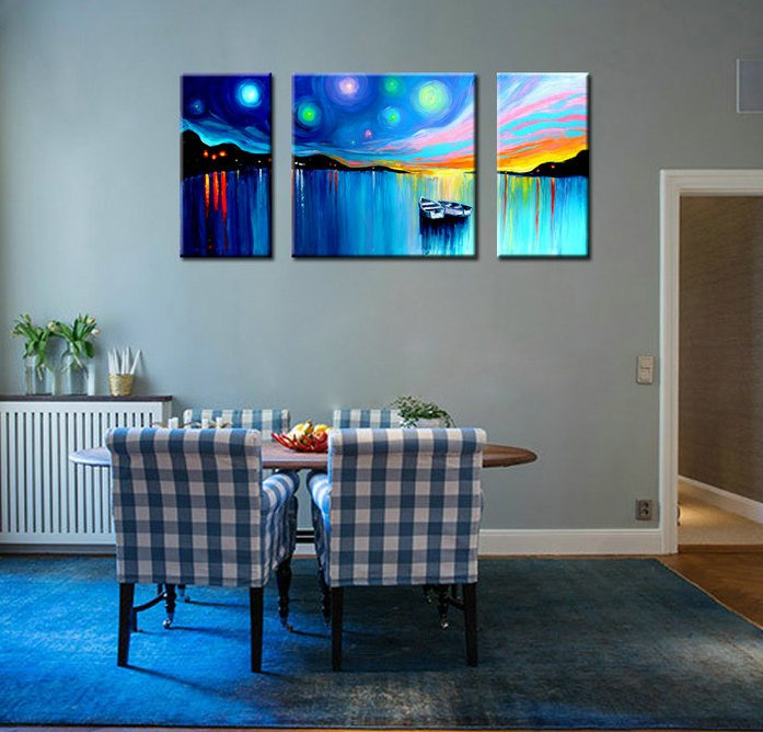 Amazing Dropship Canvas Art Oil Painting Abstract of House