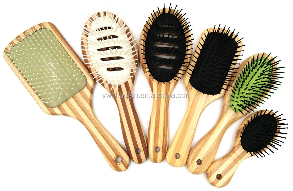 Hot selling professional paddle bamboo boar bristle hair brush