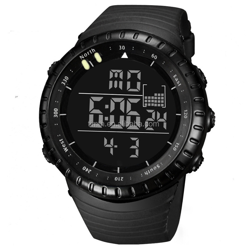 orange digital and watch index for men black weide lcd silicon strap watches products display analog