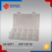 JW-Q071 Compartment plastic fishing tackle storage box for outdoor sports