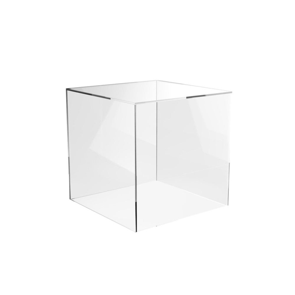 Clear Cube Riser Plastic Box Cube Transparent Acrylic Cube