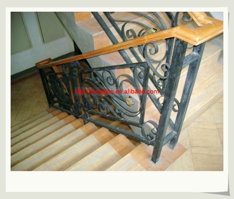 moderne fer forg balustrade rampe d 39 escalier rampes et mains courantes id de produit. Black Bedroom Furniture Sets. Home Design Ideas