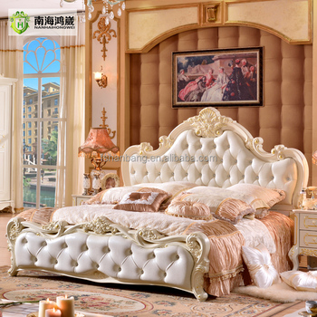 Stock Luxury Classical European French Baroque Rococo Style Bed Room Furniture  Set