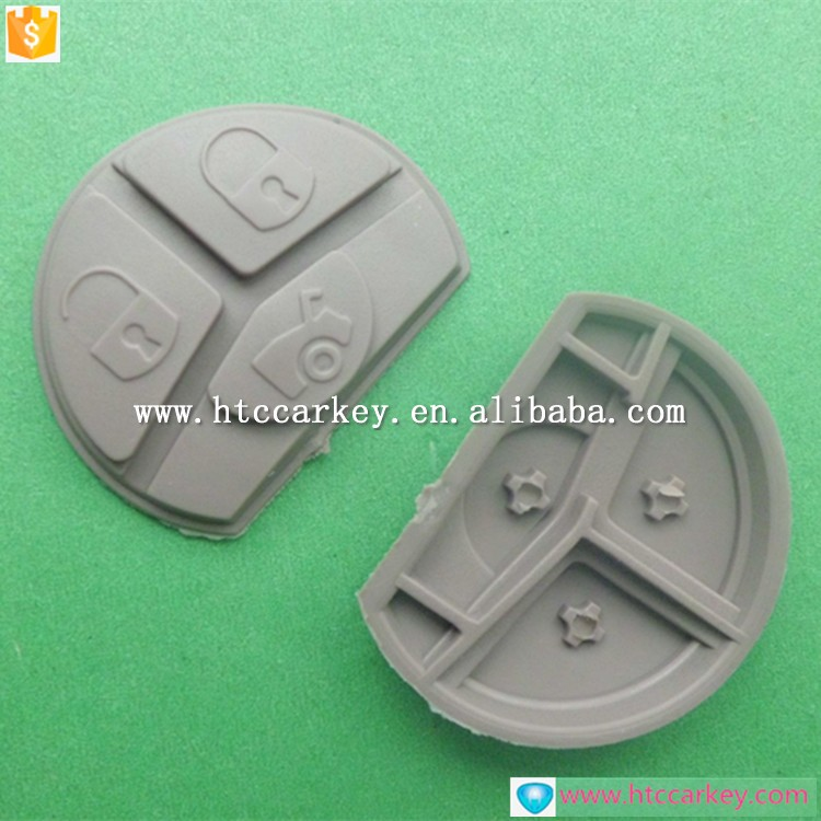 High quality for Toyota 3 Button Rubber Pad car key shell for proton