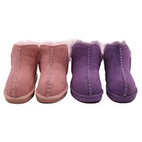 Winter factory direct discount children snow boots, real leather cute winter kids boots shoes JLX-CF-18