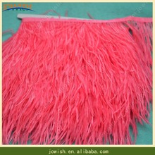 Cheap Dyed Synthetic Colored Ostrich Feather with 8-15cm Bulk Artificial Ostrich Lace Trim Ostrich Feather Fringe