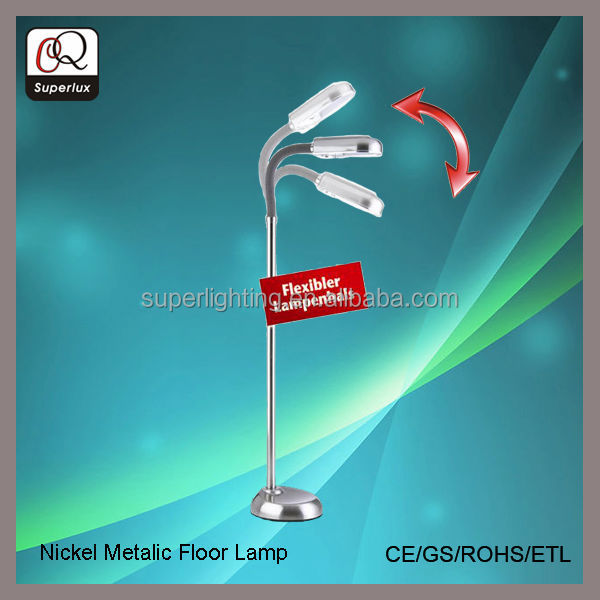Popular home goods metal reading floor lamps