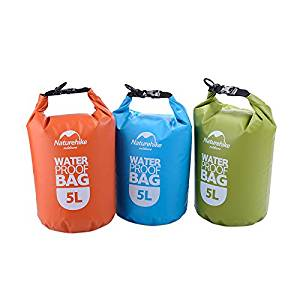 Naturehike Outdoor Camping Dry Bag 2L/5L Waterproof Roll Top Sack for Kayaking/Boating/Canoeing/Fishing/Rafting/Swimming/Camping/Snowboarding