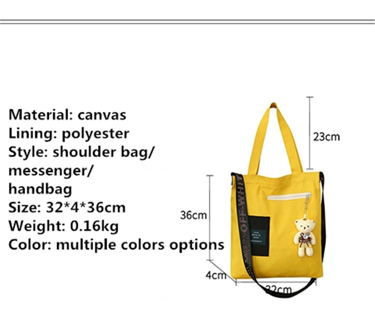Hot sale Women 100% canvas New Arrive Ladies Fashion Shoulder Bags Messenger Bag