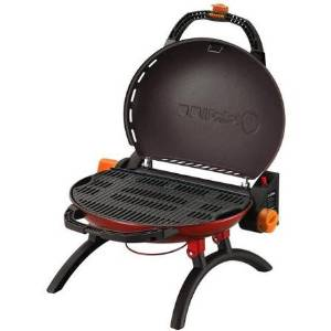 O-Grill 9,500 BTU Portable Propane Grill Stoneman Sports, O-500BK, 165 sq in Grill Space, Red, Durable Steel Material, Compact Design for Easy Storage, O-500RD